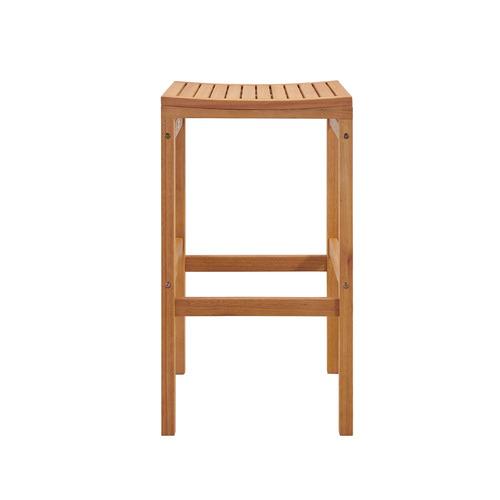 Temple & Webster 75cm Verona Wooden Outdoor Barstool