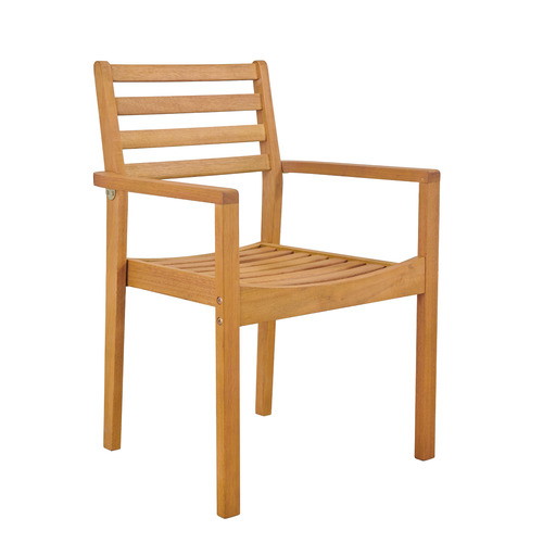 Temple & Webster Verona Wooden Stackable Outdoor Dining Chair