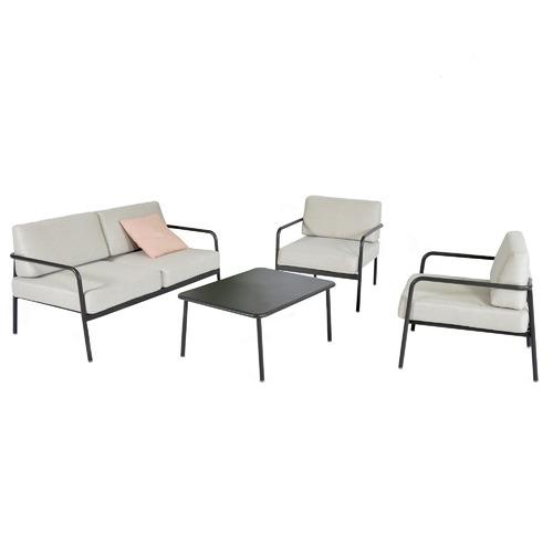 Temple & Webster 4 Seater Salerno Aluminium Outdoor Sofa Set