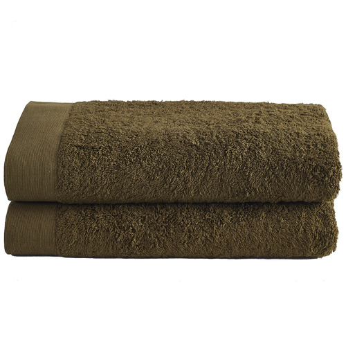 Temple & Webster Olive Spa 600GSM Bamboo & Turkish Cotton Bath Sheets