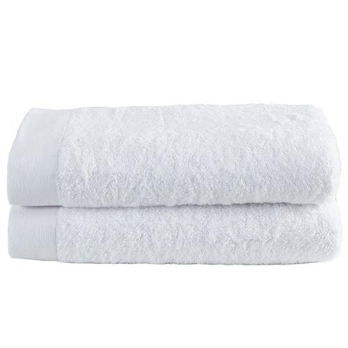 Temple & Webster White Spa 600GSM Bamboo & Turkish Cotton Towel Set