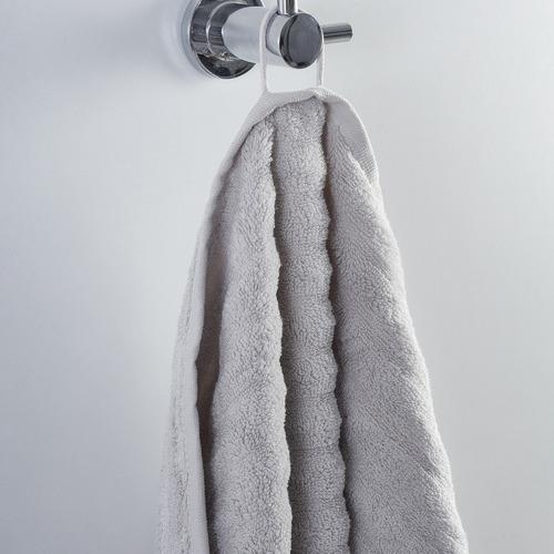 Temple & Webster Light Grey Ribbed 600GSM Turkish Cotton Towel Set