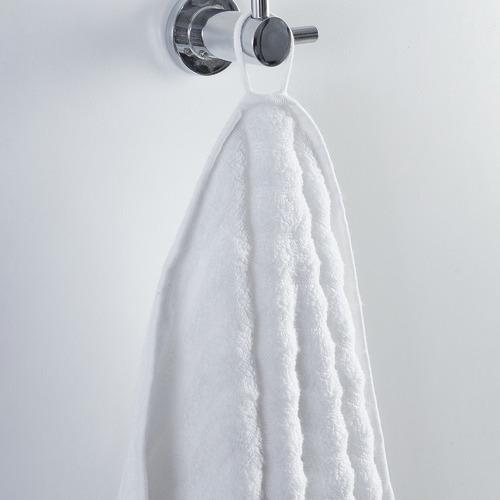 Temple & Webster White Ribbed 600GSM Turkish Cotton Towel Set