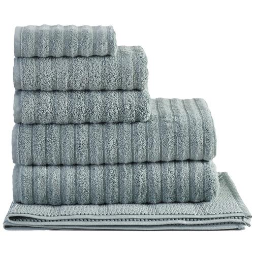 Temple & Webster Seafoam Ribbed 600GSM Turkish Cotton Towel Set