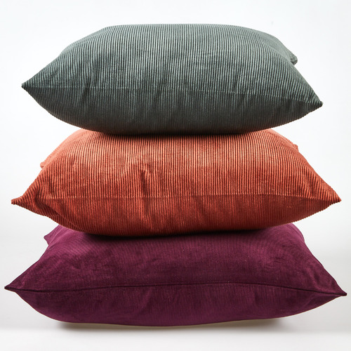 Temple & Webster Green Corduroy Cushion