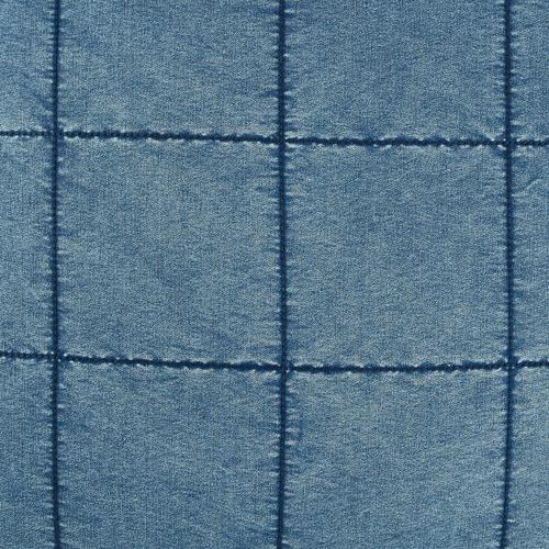 Temple & Webster Washed Denim Cotton Cushion