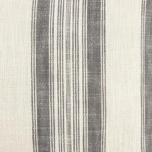Temple & Webster Cream Stripe Frayed Edge Cotton Cushion