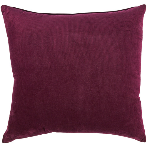 Temple & Webster Burgundy Corduroy Cushion