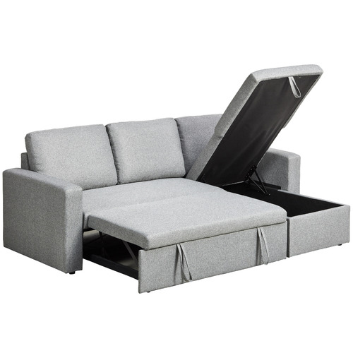 Temple & Webster Miera 3 Seater reversible chaise Sofa Bed