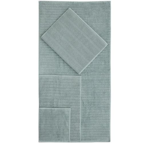 6 Piece Seafoam Ribbed 600GSM Turkish Cotton Towel Set