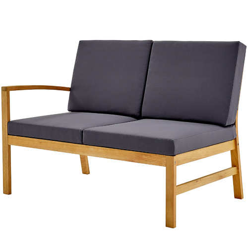 Temple & Webster 6 Seater Liam Wooden Outdoor Modular Lounge Set