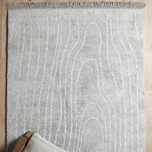 Temple & Webster Silver Ocean Eden Cotton Rug