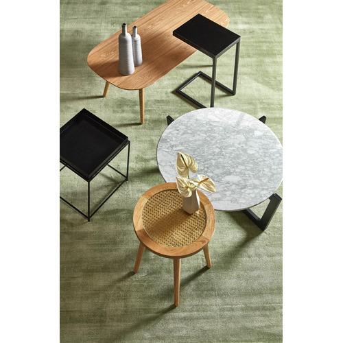 Temple & Webster Light Oak Daintree Rattan Side Table
