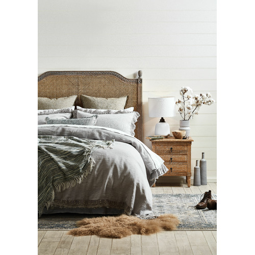 Temple & Webster Mer Linno Cotton Cushion