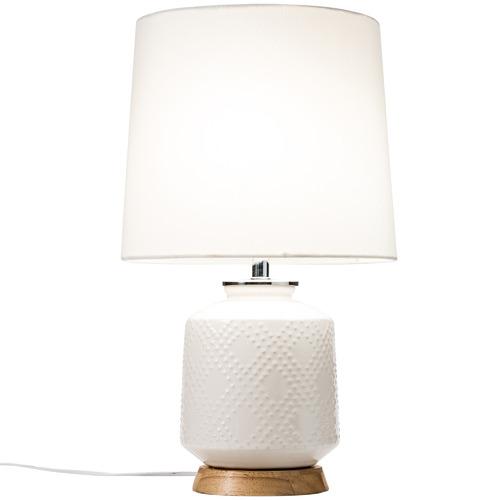 Temple & Webster White Brighton Terracotta Table Lamp