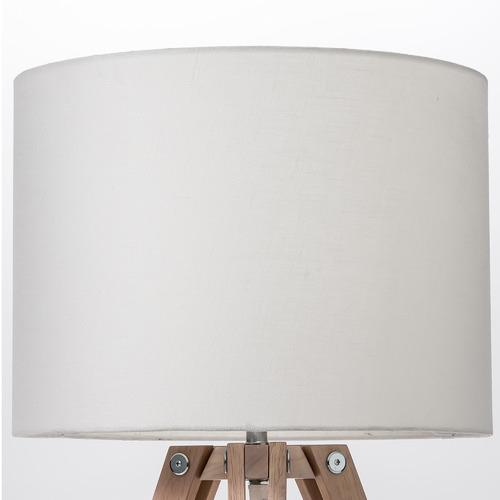 Temple & Webster Black & Whitewash Benson Wooden Tripod Table Lamp