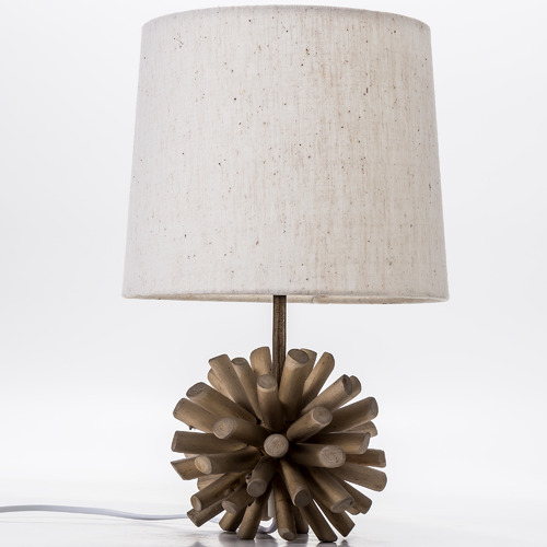Temple & Webster 35cm Driftwood Ball Table Lamp