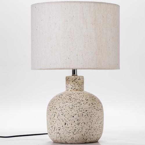 42cm White Maya Terracotta Table Lamp