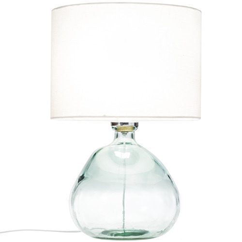 Temple & Webster Blue Valencia Glass Table Lamp