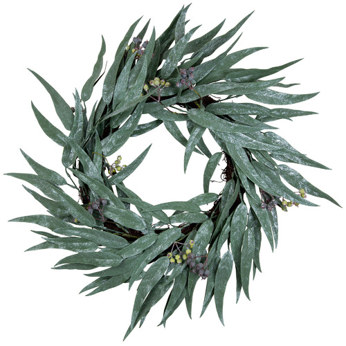 Temple & Webster 55cm Glitter Eucalyptus Gumnut Wreath