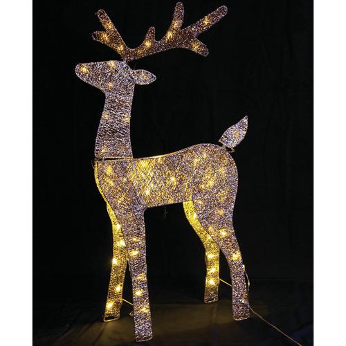 Temple & Webster Glitter Thread LED Reindeer Light