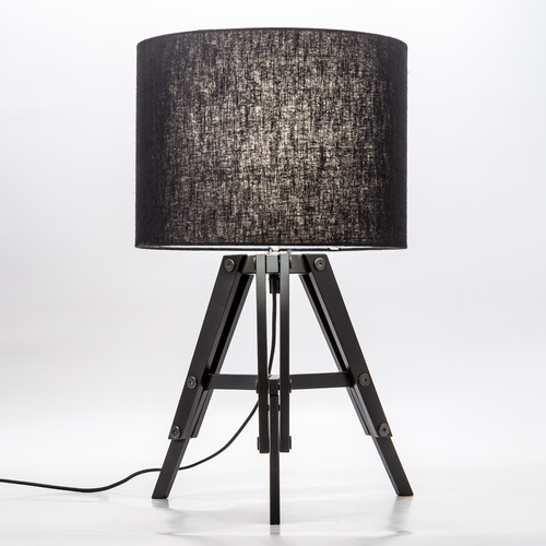 Temple & Webster Benson Wooden Tripod Table Lamp