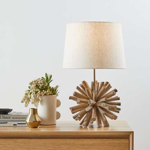 Temple & Webster 56cm Driftwood Ball Table Lamp