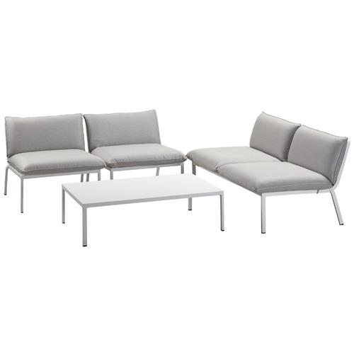 Temple & Webster 4 Seater Flinders Aluminium Outdoor Sofa Set