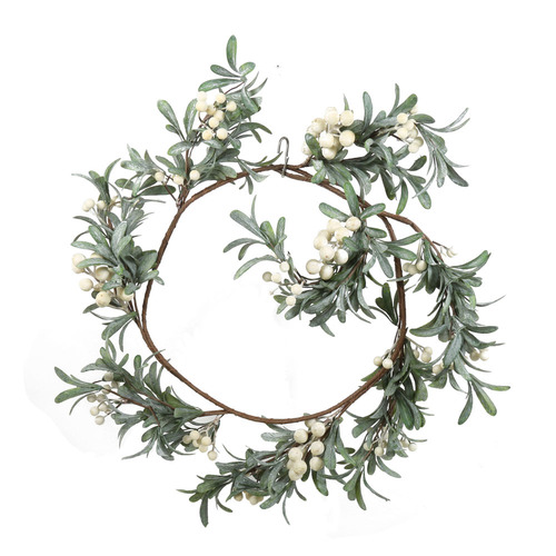 Temple & Webster 30cm White Berry Christmas Garland