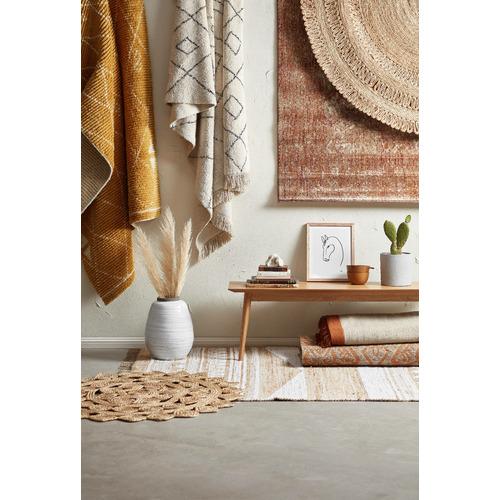 Temple & Webster Rust & Grey Mercer Hand-Woven Wool Rug