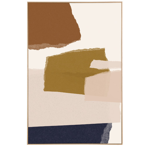 Temple & Webster Atticus Ochre Framed Canvas Wall Art