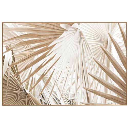 Sun Kissed Palms Framed Canvas Wall Art