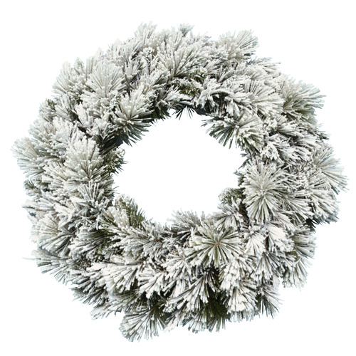 Temple & Webster 76cm Majestic Snow Flocked Wreath