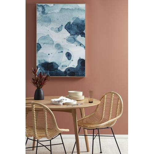 Lexis Blue Framed Canvas Wall Art