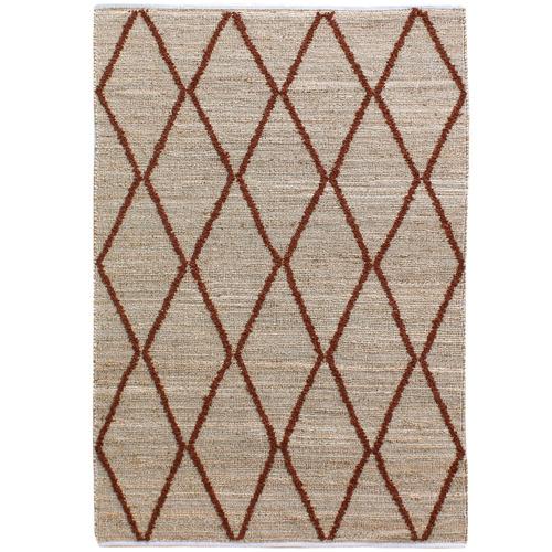 Temple & Webster Rust Rye Hand-Woven Jute-Blend Rug