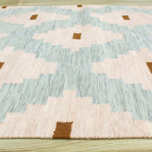 Temple & Webster Blush Nova Hand-Woven Wool Rug