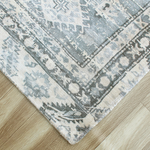 Temple & Webster Blue Maiden Hand-Woven Rug