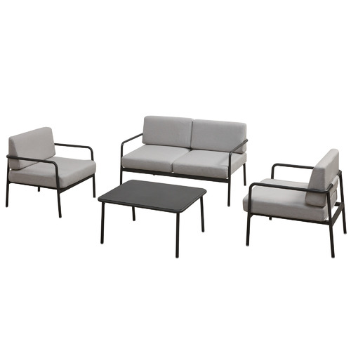 Temple & Webster 4 Seater Salerno Aluminium Outdoor Sofa Set
