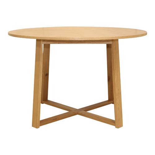 Temple & Webster Olwen Oak Wood Round Dining Table