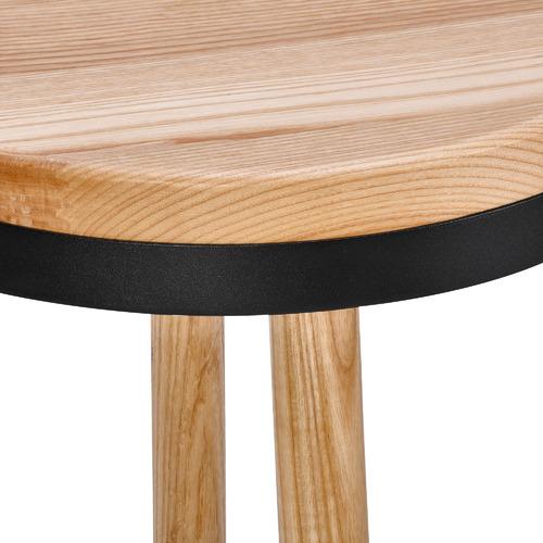 Temple & Webster 65cm Brooklyn Ash Wood & Metal Barstool