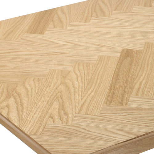Temple & Webster Natural Parquet Wooden Dining Table