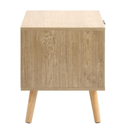 Natural Lars 2 Drawer Bedside Table