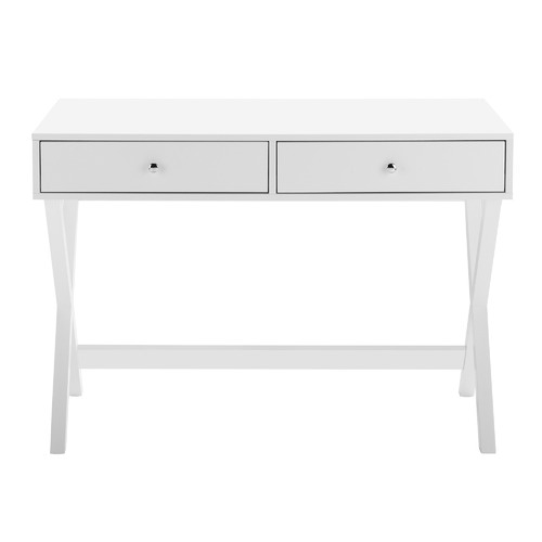 Temple & Webster White Twin Lakes 2 Drawer Desk