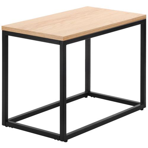 Temple & Webster 2 Piece Natural & Black Boras Nesting Side Table Set