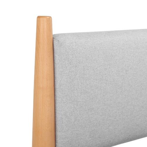 Temple & Webster Light Grey Bronte Upholstered Queen Bed