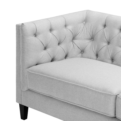 Temple & Webster Light Grey Thiago 3 Seater Sofa