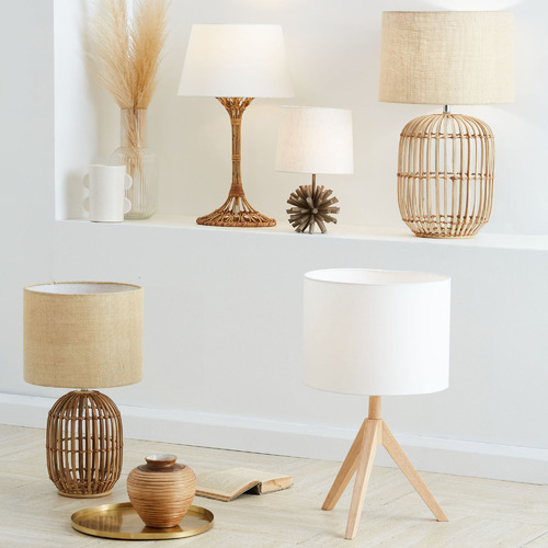 Temple & Webster Natural Arena Tripod Table Lamp