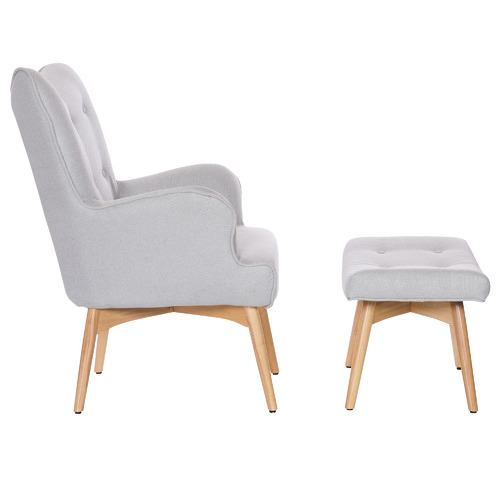 Temple & Webster Buckland Armchair with Footstool