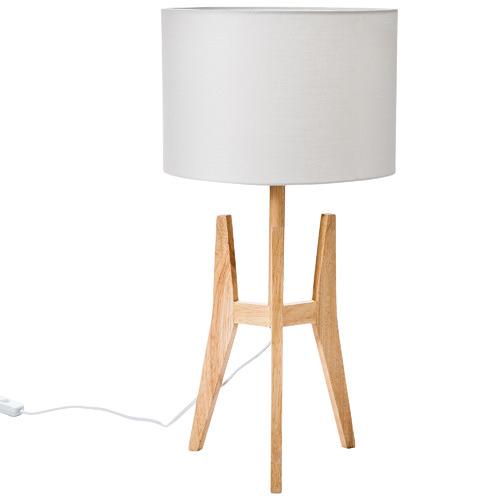 Temple & Webster Brae Rubberwood Tripod Table Lamp
