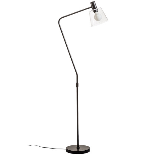 Temple & Webster Black Chicago Steel Floor Lamp